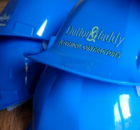 branded hard hats and safety wear
