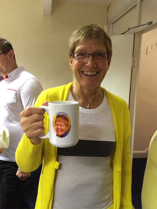 Image: Debbie Phillips was delighted with her new mug!