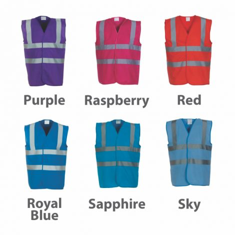 coloured vest, maroon hi-vis, navy hi-vis, summer work wear, high viz work wear, high viz printers, clothing printers, hat printers, print and embroidery suppliers, work wear suppliers, t shirt printers, local t shirt printers, work wear, team wear, leisure wear