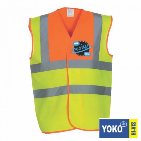 2 tone vest, black and yellow hi-vis, green and yellow hi-vis, summer work wear, high viz work wear, high viz printers, clothing printers, hat printers, print and embroidery suppliers, work wear suppliers, t shirt printers, local t shirt printers, work wear, team wear, leisure wear