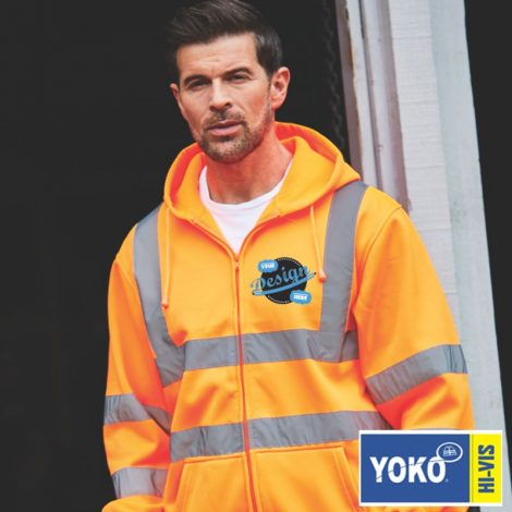 hi-vis hoodie, winter work wear, high viz work wear, high viz printers, clothing printers, hat printers, print and embroidery suppliers, work wear suppliers, t shirt printers, local t shirt printers, work wear, team wear, leisure wear
