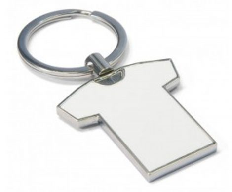 T Shirt Shaped Metal Key Rings