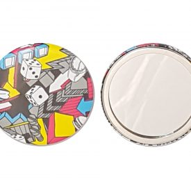 pocket mirror makers, promotional goods, branded promo printers, badge makers torquay
